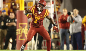NCAA Football: Oklahoma at Iowa State, Willie Harvey