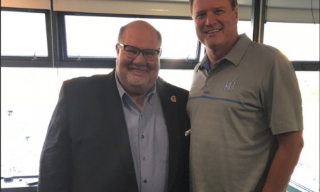 Former Kansas Jayhawks head coach Mark Mangino.