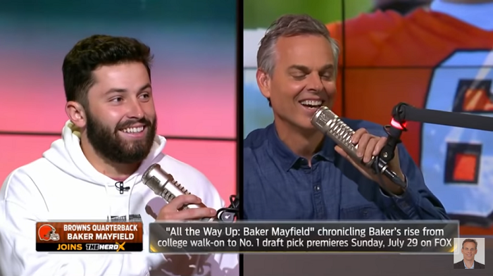 baker mayfield vs. colin cowherd