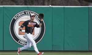 Oklahoma State Cowboys vs Eastern Michigan Eagles Baseball Game, Saturday, March 10, 2018, Allie P. Reynolds Stadium Stadium, Stillwater, OK. Bruce Waterfield/OSU Athletics