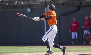 Oklahoma State Cowboys vs Marist Red Foxes Baseball Game, Sunday, February 25, 2018, Allie P. Reynolds Stadium Stadium, Stillwater, OK. Bruce Waterfield/OSU Athletics