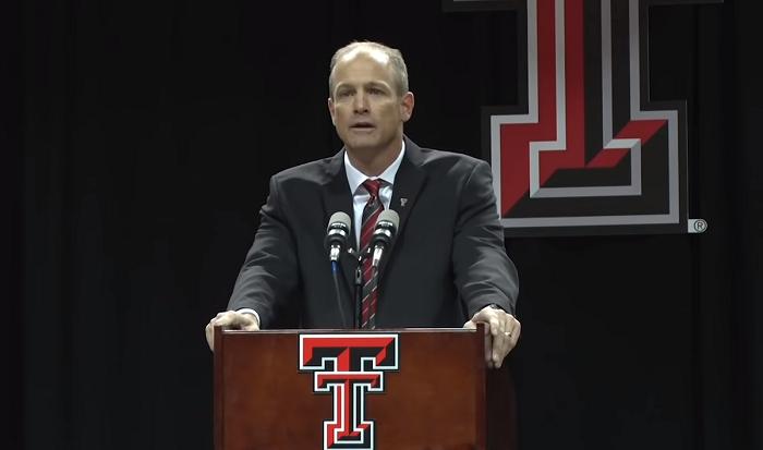 Texas Tech Red Raiders head coach Matt Wells