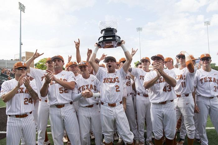 texas longhorns baseball celebration
